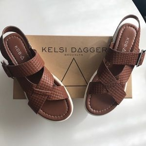 Brown Sandals by Kelsi Dagger Brooklyn